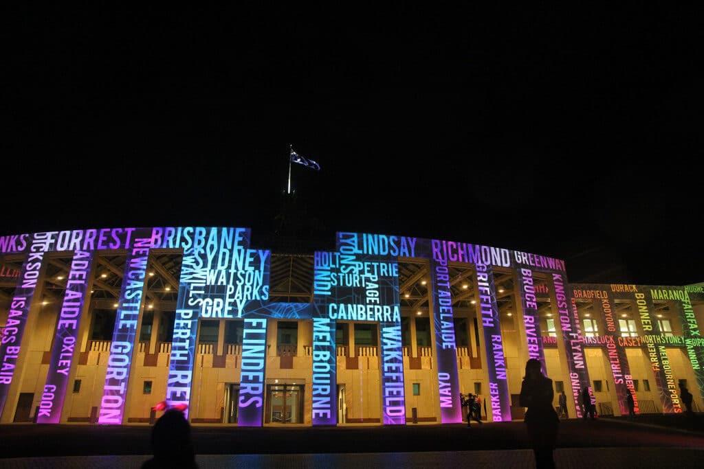 illuminations for Enlighten Canberra